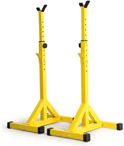 Suge Ajustable en cuclillas en rack Peso de elevación prensa de banco de barra del levantamiento Squat Rack, regulable en cuclillas en rack de Split con barra soporte, banco de soporte Barra Rack, ent
