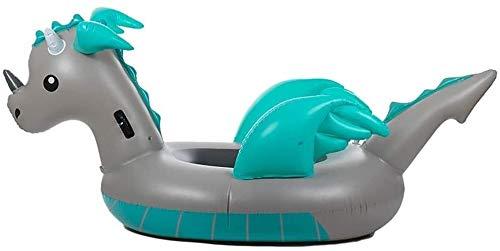 Piscina inflable de la cama de aire de la fila flotante, balsa flotante de la piscina inflable de la piscina para animales - Piscina al aire libre Cómodo Agua Salón y Fila flotante para niños adultos,