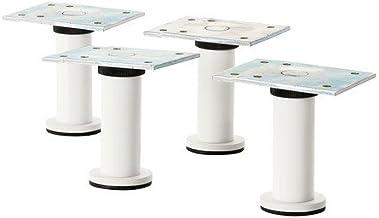 Ikea Capita Beine in weiß; Verstellbar; 8-9cm