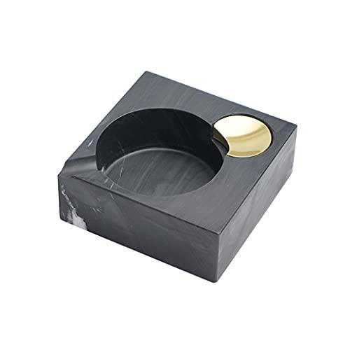 WYH Titular de Ceniza Cenicero Pequeño Cenicero de Piedra para Cigarrillos Cenicero Cuadrado para El Titular de La Ceniza Interior Al Aire Libre Decoración del Hogar Canastilla de Cigarro (Color : B)