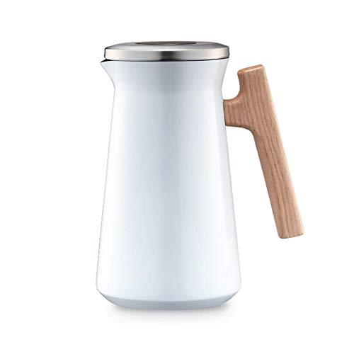 Isolierkanne, Thermo-Kaffeekanne, 304 Edelstahl innen und außen, mit einfachem Sicherheitsdruckknopf, für heißes...