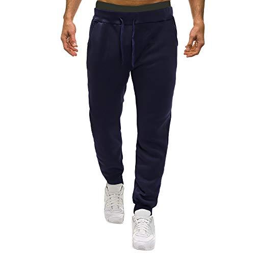 Manadlian Casual Pantalons Couleur Unie Sweatpant de Jogging Baggy Hommes Automne Long Pants Black Friday Pants