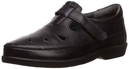 Propet Women's Ladybug Flat Loafer, Black, 8.5 X-Wide