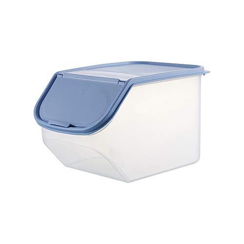 Esoes - Contenedor de alimentos secos, Dispensador de alimentos, útil para perros y gatos, para cereales, alimentos de mascota, organizador para cocina y de alacena