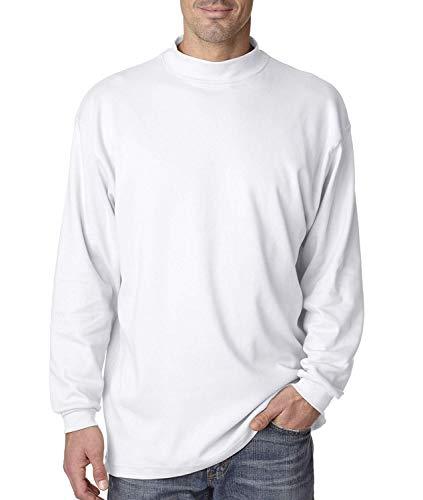 Croft & Barrow Mens Mockneck Knit White Long-Sleeve Shirt 100% Combed Cotton (X-Large)