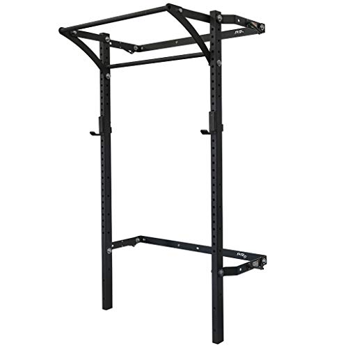 PRx Performance (as seen on Abc's Shark Tank Profile Squat Rack with 42'Kipping Bar: 2'x 3', 11-Gauge Steel, Heavy-Duty J-Cups, Black Onyx