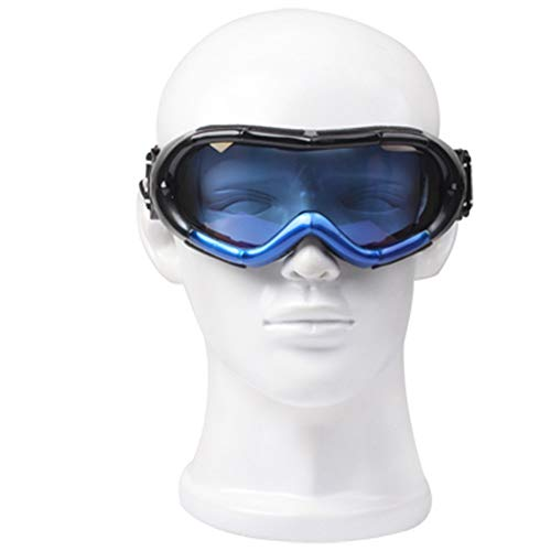 Veiligheidsbril Beschermende Brillen/Snowboard Goggles Met Riem Leash Werken Studeren Leven (Color : Blue, Size : 18x8x7cm)