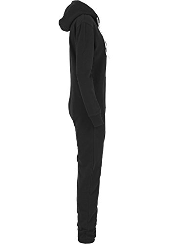 Urban Classics TB1077 Ladies Sweat Jumpsuit Overall Anzug Teddy Damen, Farbe:blk/wht - 6