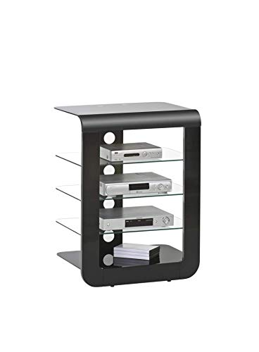 MAJA Möbel TV- und HiFi-Rack Glas Schwarz