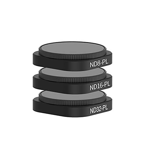 TELESIN 3 piezas ND8/PL ND16/PL ND32/PL filtro de lente para GoPro Hero 9 negro, 2 en 1 filtro ND y CPL filtro Kit protector de lente para GoPro 9 accesorios