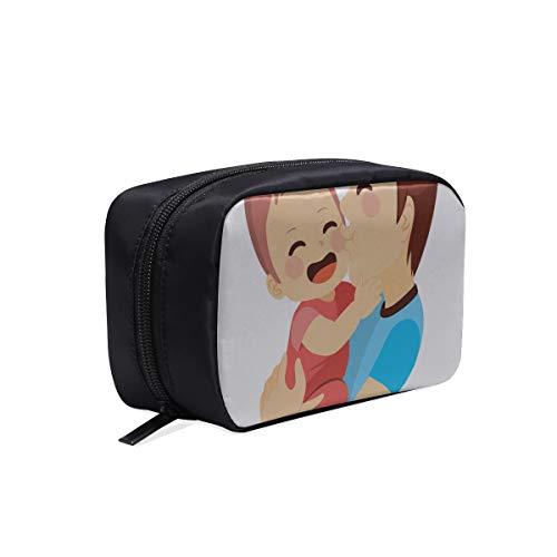 Bolsa de maquillaje Bolsa para recién nacidos Padres con bebé Bolsa de maquillaje para niños Bolsa de viaje para mujer Bolsa de viaje portátil Bolsas de cosméticos Estuche multifunción WC de viaje Bo