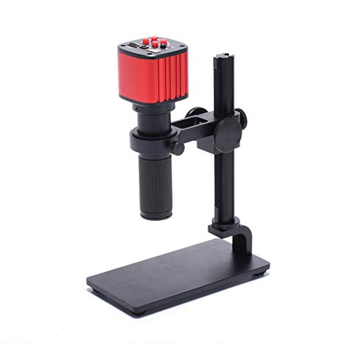 HAYEAR 16MP HD 1080P HDMI USB Electronic Industry High Definition Microscope Camera +150X Magnification Lens+ Portable Table Stand for PCB Repair Inspect