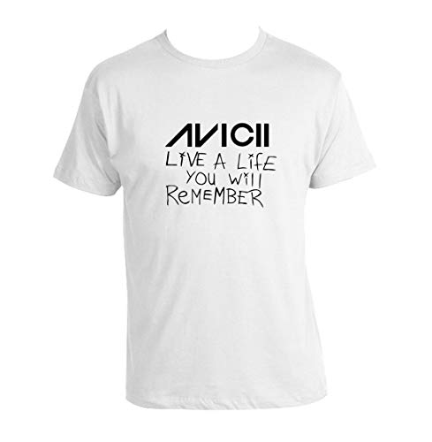 Avicii Live A Life You Will Remember T-Shirt Unisex Tee Avicii EDM Dance Legend (Medium)