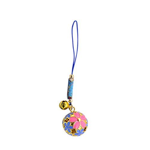 SUPVOX Hanging Bells Pendant Ornament Japanese Hollow Blossoms Bells Charms with Hanging Cord DIY Craft Bag Purse Hanging Ornaments Decorations