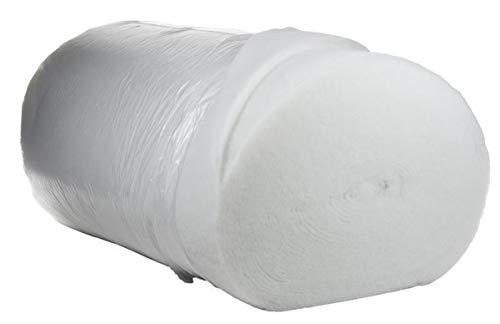 mySchaumstoff Polsterwatte Vlies Vlieswatte Diolenwatte Volumenvlies Polyestervlies Breite: 150cm (1cm - 100g/m²)