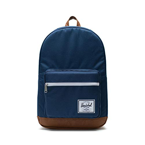 Herschel 10011-00007  Pop Quiz Backpack Rucksack, 1 Liter,Blau(Navy/Tan Synthetic Leather Backpack)