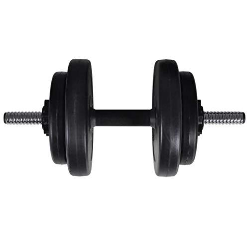 Juego de mancuernas con 2 mancuernas de 60,5 kg, 1 barra de pesas, 2 mancuernas y 16 discos de pesas