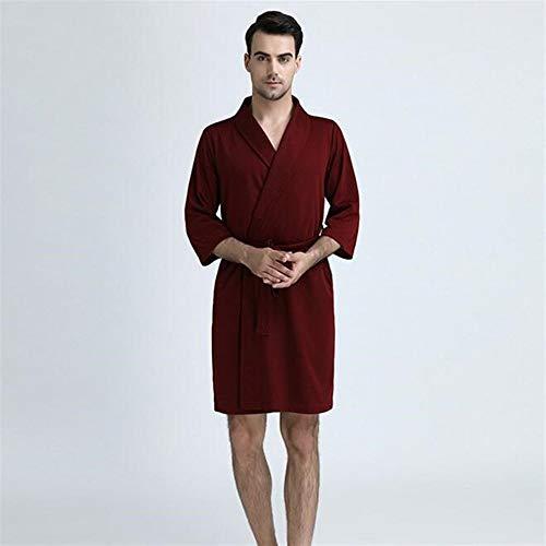 Kristallly Paar Badjas Absorberende Jacquard Nachtjapon Lange mouwen Vest Wijn Rood Eenvoudige Stijl Pyjama Thuis Reizen Mode Comfortabele pyjama