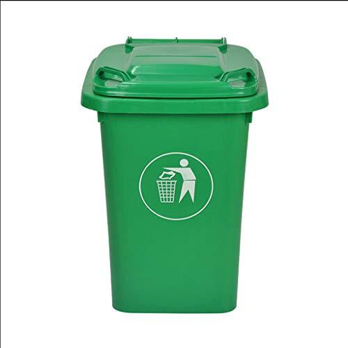 NN Cubos de Basura Bote de Basura al Aire Libre Pie Industrial con Cubierta Saneamiento Comercial Al Aire Libre Plástico médico Gran Capacidad Bote de Basura (32 litros) Papelera de Oficina