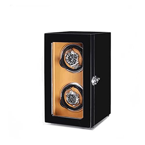 WRNM Cajas Giratorias para Relojes Caja Almacenamiento Lujo De Madera Motor Silencioso para 2 Relojes Automáticos Grandes A Pequeños por Reloj