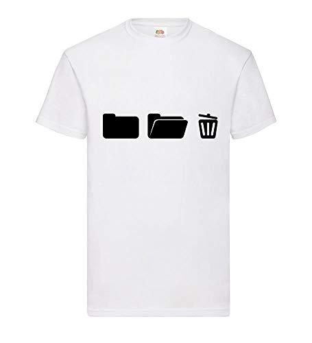 shirt84.de - Archivador con Papelera, diseño de Camiseta de Hombre Blanco XXXL