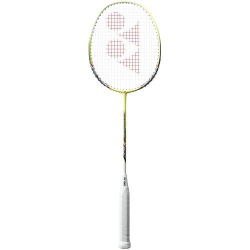 YONEX Nanoray 10 Badmintonschläger, Weiß/Gelb