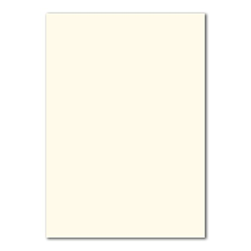 50 DIN A4 Papier-bögen Planobogen -Naturweiß - 240 g/m² - 21 x 29,7 cm - Bastelbogen Ton-Papier Fotokarton Bastel-Papier Ton-Karton - FarbenFroh®