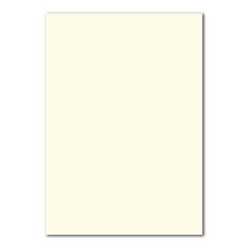 50 DIN A4 Papierbogen Planobogen -Naturweiß - 160 g/m² - 21 x 29,7 cm - Bastelbogen Ton-Papier Fotokarton Bastel-Papier Ton-Karton - FarbenFroh®