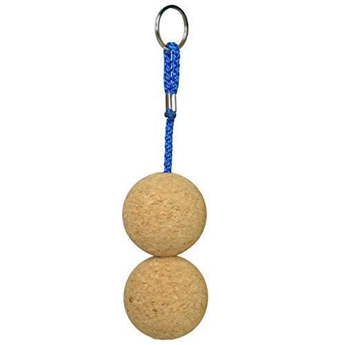 Yachticon Kork Schlüsselanhänger, Ausführung:Ball 2x groß