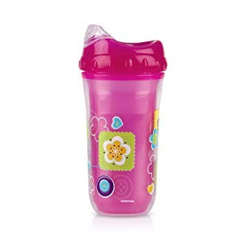 Nuby Insulated Cool Sipper Cup 18m+ BPA Free (Pink Flowers)