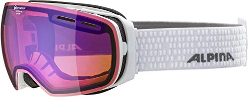 ALPINA GRANBY Skibrille, Unisex– Erwachsene, white, one size