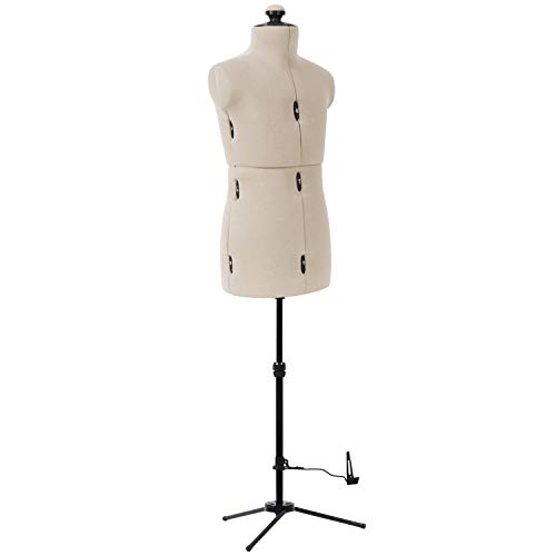 Dritz Little Double Adjustable Dress Form, Niño, Beige - 20001