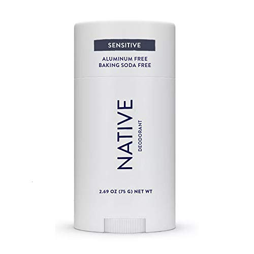 Native Deodorant- Natural Deodorant for Women and Men - Baking Soda Free - Contains Probiotics - Aluminum Free & Paraben Free, Naturally Derived Ingredients - Unscented (Sensitive)