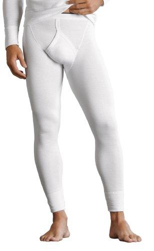 Hommes 1 Paire Jockey thermique Long John Dans 2 Couleurs - Petit - Blanc