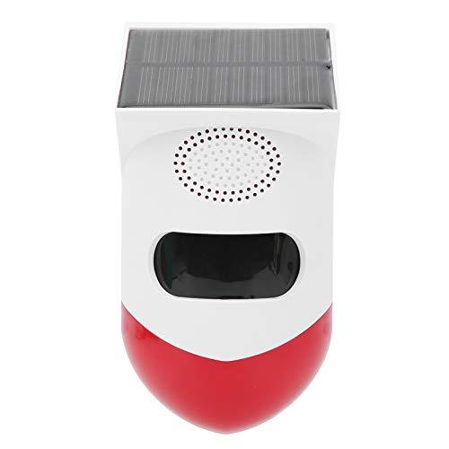 Asixxsix Alarma infrarroja Solar, Alarma de Seguridad infrarroja ABS, Control Remoto para el hogar de la Tienda