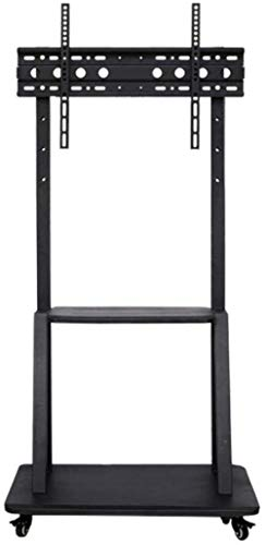 FCYQBF - Soporte giratorio universal para TV de acero inoxidable para TV de 32 a 75 pulgadas, soporte de suelo de TV negro con soportes sobre ruedas Casto
