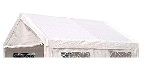 DEGAMO Ersatzdach Dachplane für Zelt 4x4 Meter, PE Weiss 180g/m², incl. Spanngummis