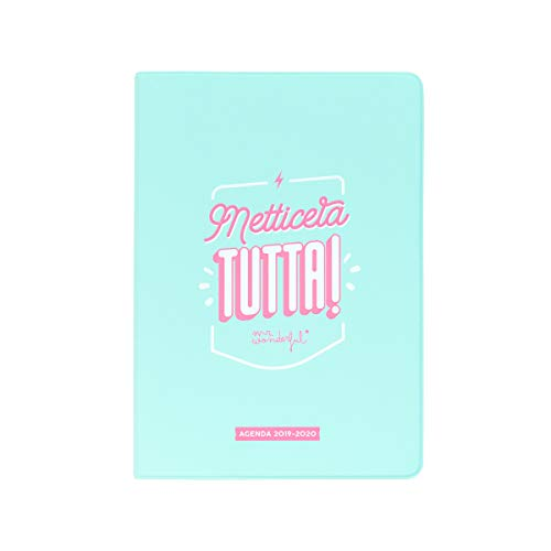Mr. Wonderful Agenda Classica Piccola settimanale 2019-2020, Multicolore, Dimensioni: 12 x 17,2 x 1,9 cm