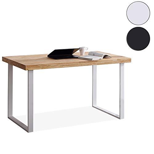 Adec - Natural, Mesa de Estudio, Escritorio o despacho, Mesa de Oficina Color Roble Salvaje y Blanco, Medidas: 120 x 60 x 73 cm de Alto