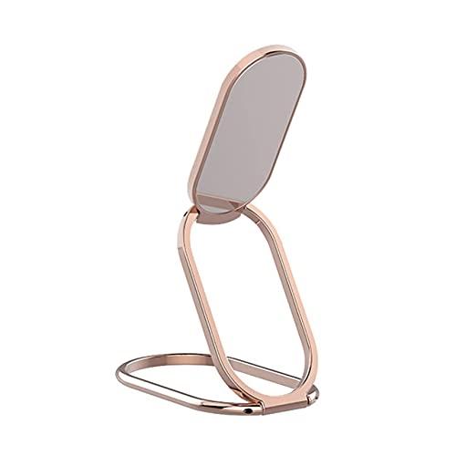 Soporte Ajustable para Anillo de teléfono móvil Soporte para Dedos Rotación de 360 Grados y Agarre de Metal con Tapa de 180 Grados para Todos los teléfonos Inteligentes - Oro Rosa