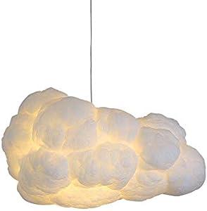 Lámpara colgante de algodón DIY Iluminación colgante Vivero Nube blanca Luz colgante Tienda de té Iluminación Tienda de ropa Decoración Habitación para niños Salón del hotel Área (60 * 35 * 24CM)