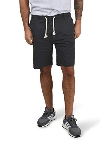 Indicode Abbey Herren Chino Shorts Bermuda Kurze Hose Aus Stretch-Material Regular Fit, Größe:L, Farbe:Black (999)