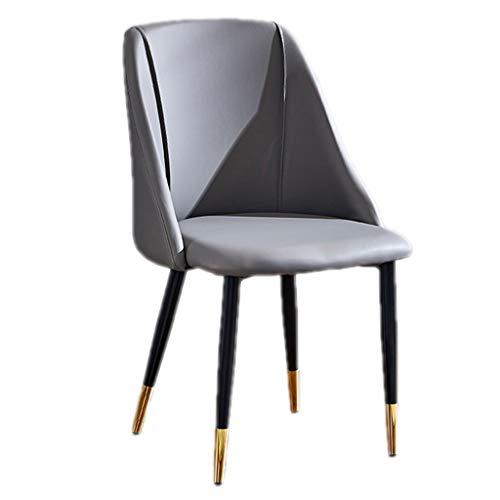 Sedie PU Sedia da Pranzo Ristorante per Il Tempo Libero Sedia Posteriore Cucina Pranzo Laterali Camera da Letto Sedia Trucco Assemblare la Sedia (Color : Grey, Size : 52 * 43 * 86cm)
