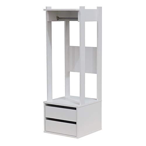 Pilaster Designs Headland - Portabiti moderno, con cassetti, in legno bianco