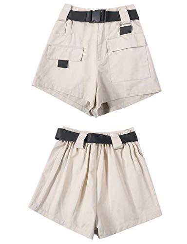 LHXS Dames Shorts Zomer Gereedschap Shorts Overalls Shorts W/Riem Ademende Cargo Hoge Taille Pocket Shorts Cool Meisje