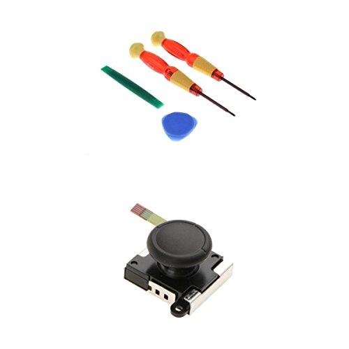 MagiDeal Analoger Thumbstick Joystick Rocker Stange Stick mit Kappe und Werkzeug kit für Nintendo Switch Controller Joy-Con