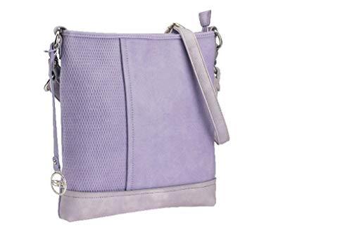 BERNARDO BOSSI Crossover Damen Tasche Shopper Hobo Bag Schultertasche Frauen Umhängetasche verschiedene Modelle (M5 lila)