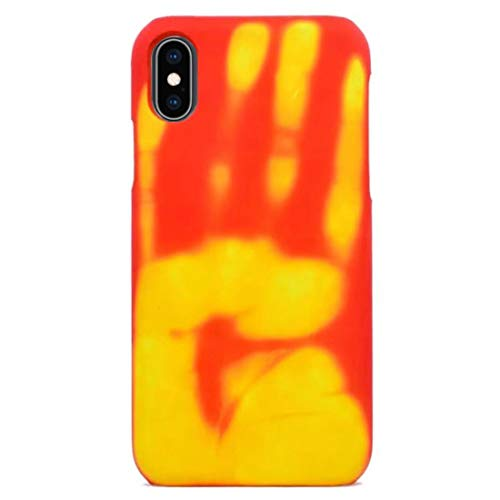 Omio for iPhone Xs Max Thermal Sensor Case Heat Induction Fluorescent Temperature Sensing Back Cover for iPhone Xs Max Case Ultra Thin Anti-Scratch Color Changing Protective Case for iPhone Xs Max