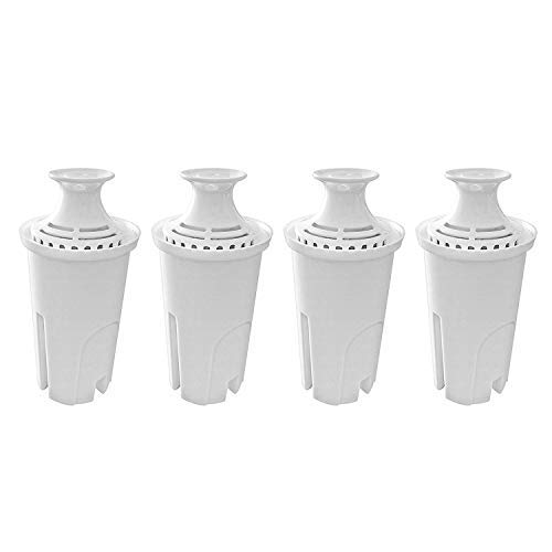 Fette Filter – 4 Pack of Water Replacement Filter Compatible with Brita Standard Water Pitchers