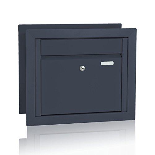 Briefkasten für Gabionenzaun, Entnahme vorn, RAL 7016 Anthrazit (Art.Nr. 71)